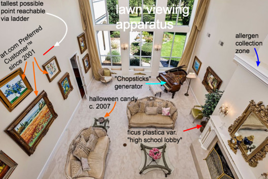 McMansion listings often feature a wide range of off-the-shelf luxury trappings. Image Courtesy of Chicago Architecture Biennial
