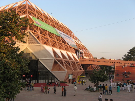 Image by <a href=https://commons.wikimedia.org/wiki/File:Pragathi_maidan_Delhi1.jpg>Wikimedia user Rameshng</a> in public domain