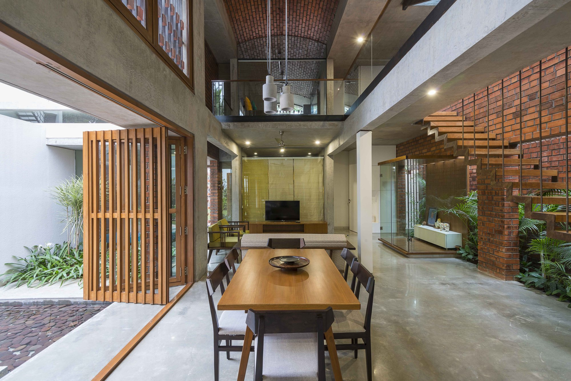 Gallery Of Brick House Architecture Paradigm 16
