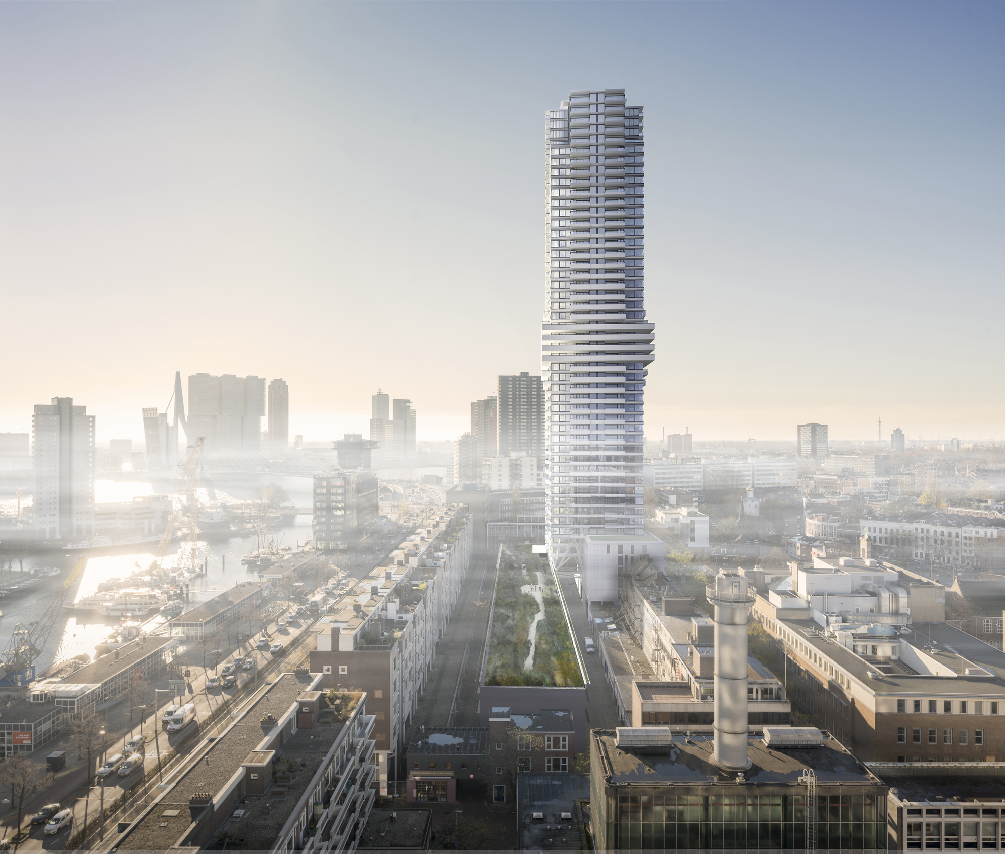 Rotterdam 39 s skyline to reach new heights with 150 meter for Architecture rotterdam
