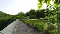 Eco Bridge Design Winner Creates an Undulating Mountainside Infrastructure in Seoul