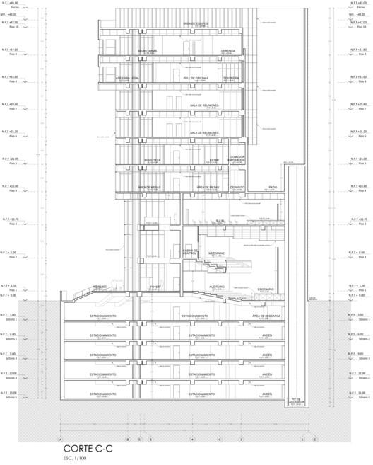 Corte CC. Image Cortesía de Estudio Arquitectura & Ciudad