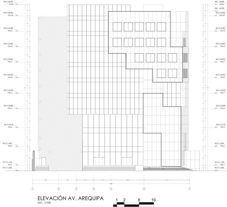 Elevación Arequipa. Image Cortesía de Estudio Arquitectura & Ciudad
