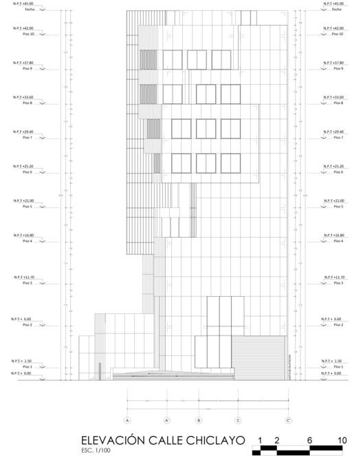Elevación Chiclayo. Image Cortesía de Estudio Arquitectura & Ciudad
