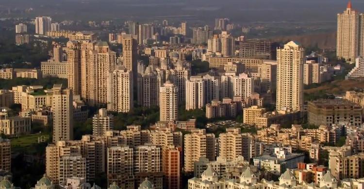 Mumbai. Image © <a href='https://commons.wikimedia.org/wiki/File:Mumbai_Skyline1.jpg'>Wikimedia user Deepak Gupta</a> licensed under <a href='https://creativecommons.org/licenses/by-sa/3.0/deed.en'>CC BY-SA 3.0</a>