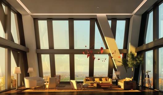 Ateliers Jean Nouvel, 53 W. 53rd Street, Nueva York, muestra Sumac de Calder, 1961. Es parte de una colección privada. Imagen Cortesía de Ateliers Jean Nouvel