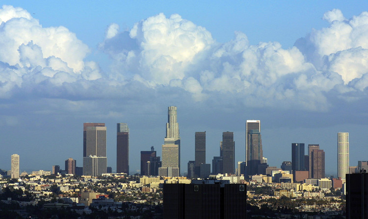 #8. Los Angeles. Median Price: $593,900, Median Income: $63,900, Median Multiple: 9.3. Image © <a href='https://commons.wikimedia.org/wiki/File:DowntownLosAngeles.jpg'>Wikimidia user Pintaric</a> licensed under <a href='http://https://creativecommons.org/licenses/by-sa/3.0/deed.en'>CC BY-SA 3.0</a>