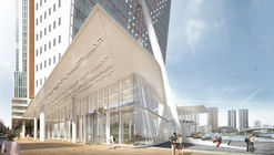 V8 Architects to Expand Renzo Piano's Tilted KPN Tower in Rotterdam