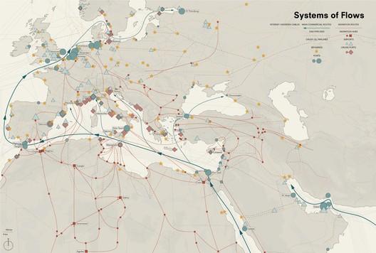 Mediterranean System of Flows, Palermo Atlas. Image Courtesy of OMA