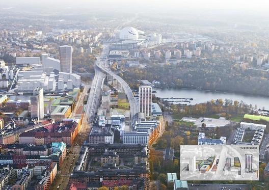 Masterplanning: White Arkitekter / Södra Skanstull. Image Courtesy of WAF