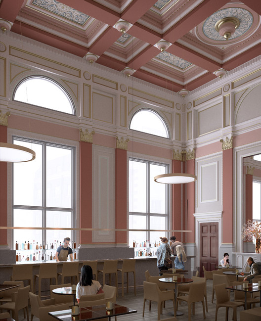 The Dorfman Senate Rooms in 2018. Image © David Chipperfield Architects. Courtesy of Royal Academy of Arts