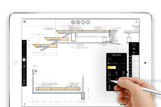 A view of Sean Gallagher's work as seen in Morpholio's Trace App. Image Courtesy of Morpholio
