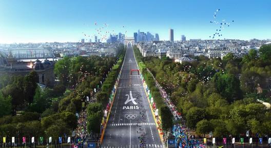 Champs-Élysées - Cycling. Image via Paris 2024
