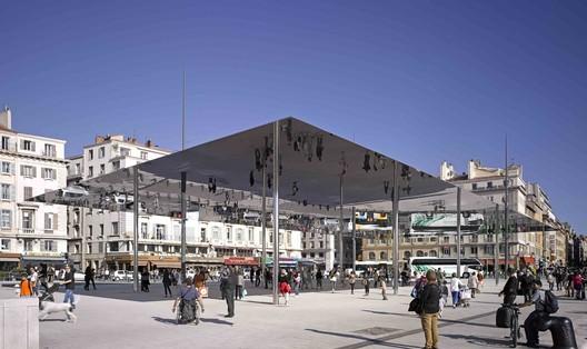 Vieux Port Pavilion / Foster + Partners. Image © Edmund Sumner