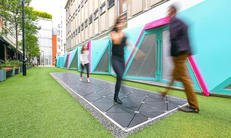 "World's First ""Smart Street"" in London Turns Footsteps into Energy"