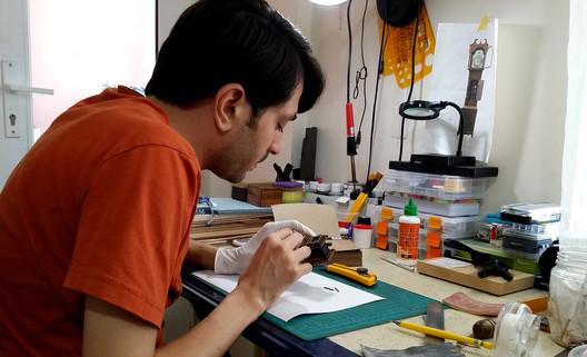 Making the miniatures. Image © Ali Alamedy