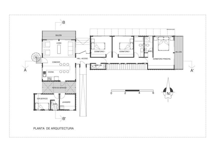 10 ejemplos en planta de arquitectura con containers for Plantas de arquitectura