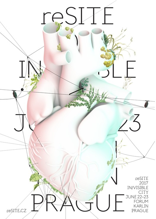 The poster for reSITE 2017 showing the conference's visual identity of a heart. Image © reSITE