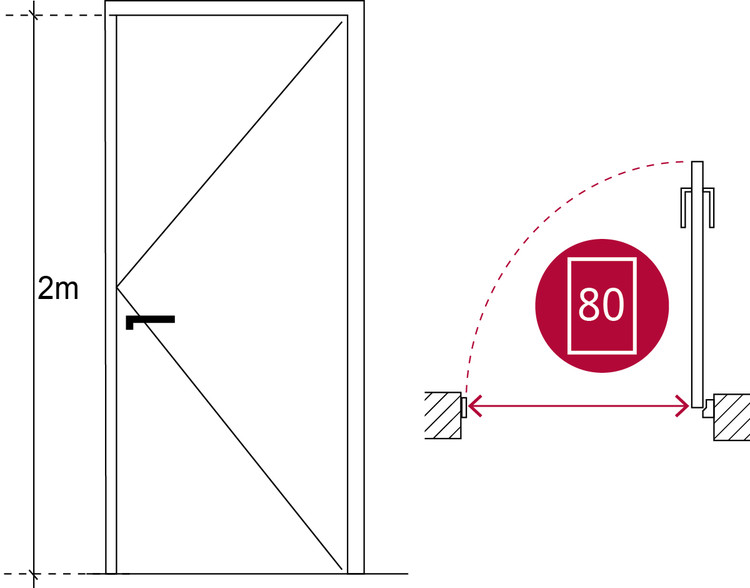 Ancho libre de puertas en los recintos de la vivienda. Image © Corporación Ciudad Accesible