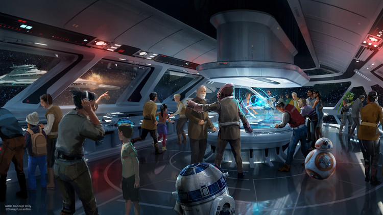 © Disney/Lucasfilm. Image via <a href='http://https://disneyparks.disney.go.com/blog/2017/07/plans-unveiled-for-star-wars-inspired-themed-resort-at-walt-disney-world/'>Disney Parks Blog</a>. ImageEarly concept drawings for the hotel