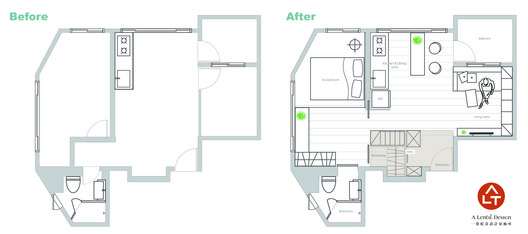 Before-After Floor Plan