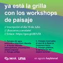 Workshops de planificación y diseño del paisaje en la Bienal Nacional de Diseño - UBA / Argentina Manuel LIPAA