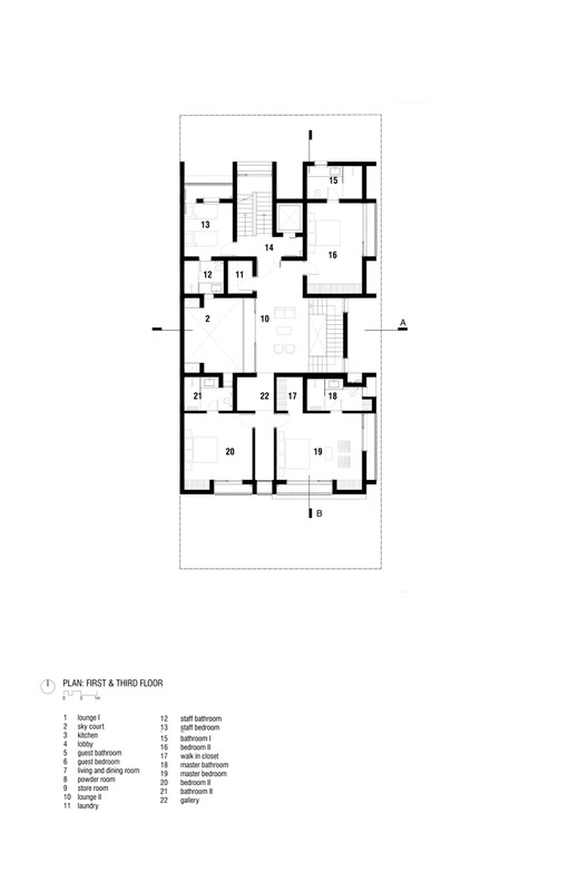 First and Third Floor Plan