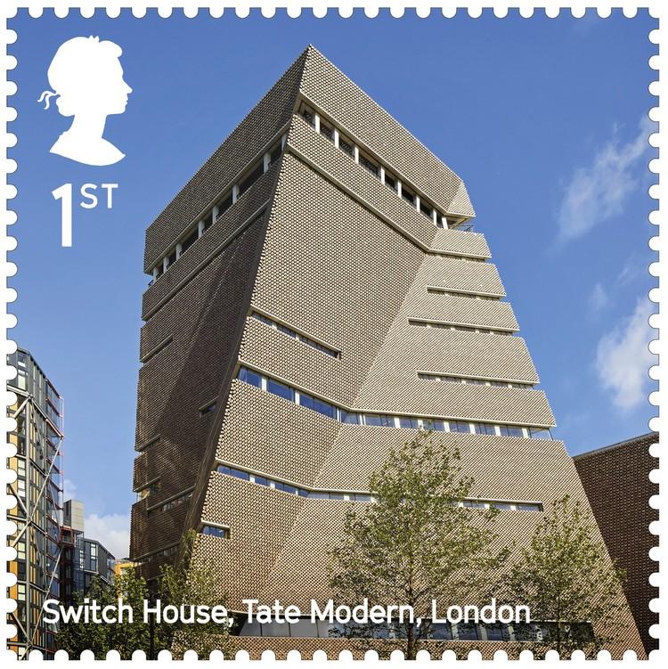 Tate Modern Switch House / Herzog & de Meuron. Image Courtesy of Royal Mail