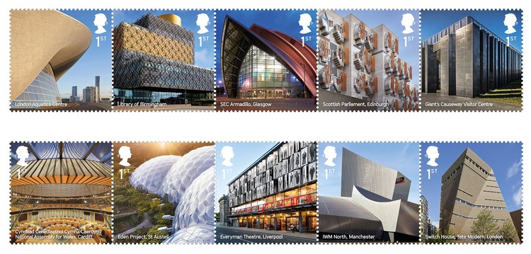 The UK's Best Contemporary Architecture Celebrated in New Stamp Series, Courtesy of Royal Mail