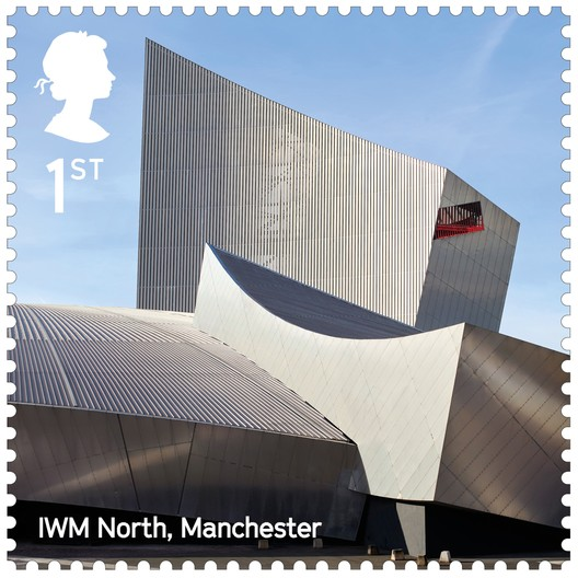 Imperial War Museum North / Studio Libeskind. Image Courtesy of Royal Mail