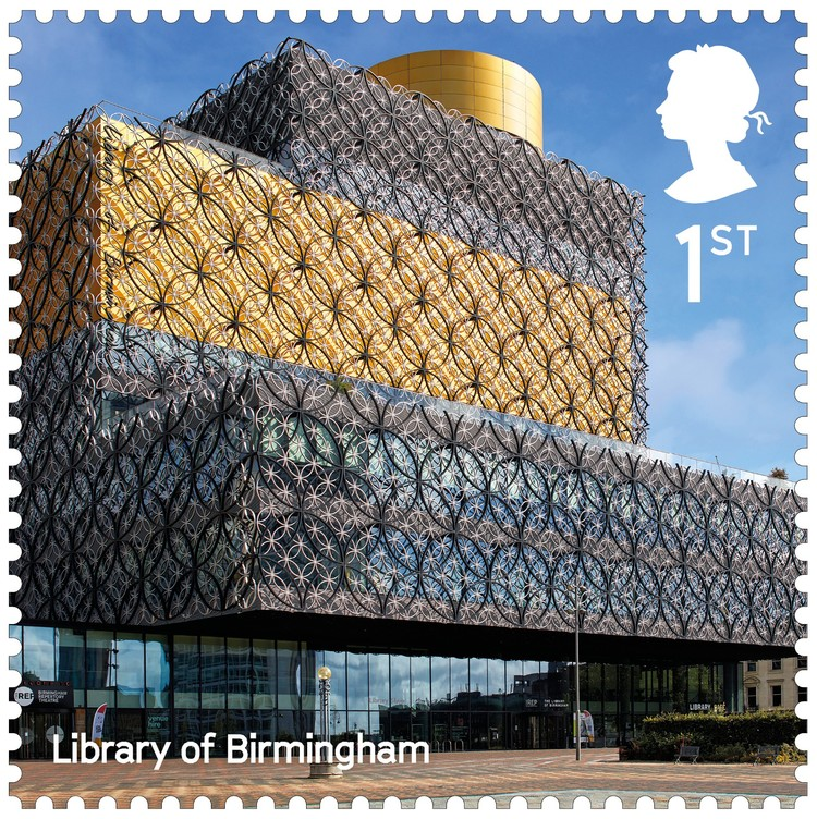 Library of Birmingham / Mecanoo. Image Courtesy of Royal Mail