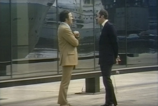 Bernard Keeffe and Norman Foster (1971). Image Courtesy of Thames TV