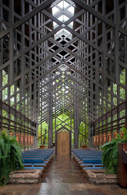 <a href='http://ift.tt/2uww5Vd Chapel / E. Fay Jones</a>. Image © Randall Connaughton
