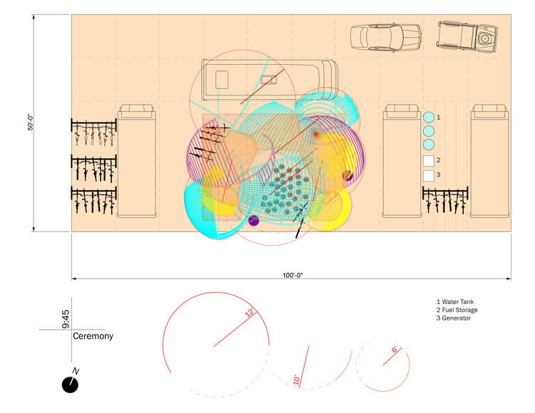 Plan: 2017 Burning Man Festival installation. Image © GSAPP Conversations