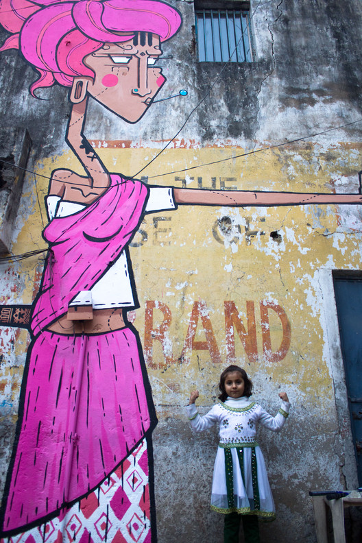 Artwork by Sergio, Shahpur Jat, Delhi