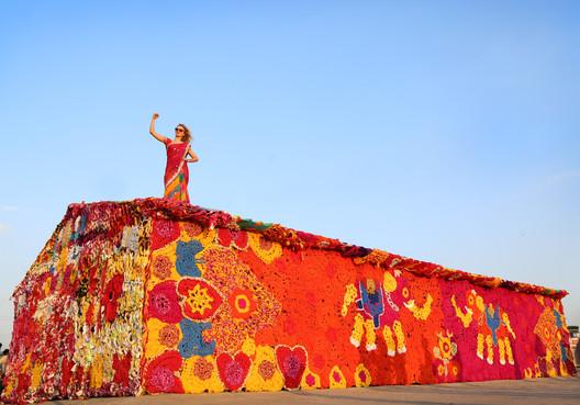 Crochet-work by Olek, Delhi