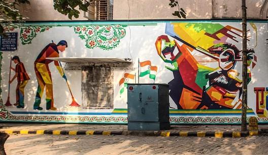 Swachh Bharat Mural, Lodhi Colony, Delhi