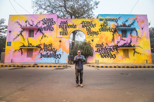 Artwork by Niels Shoe Meulman, Lodhi Colony, Delhi