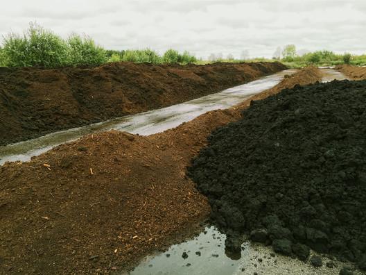 Anthropocene Island. Waste material of the Wastewater Treatment Plant, 2017. Image Courtesy of ecoLogicStudio