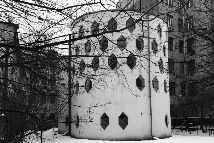 The Melnikov House. View from the courtyard. 2015. Photo © Pavel Kuznetsov. Image Courtesy of Getty Foundation
