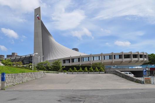 Second gymnasium of Yoyogi stadium. Photo courtesy Japan Sport Council. Image Courtesy of Getty Foundation