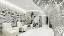 Beijing Space of Lace Pattern—Lily Nails Salon / ARCHSTUDIO