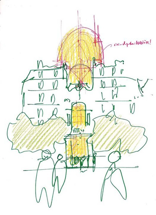 Sketch - Pathé Foundation / Renzo Piano Building Workshop