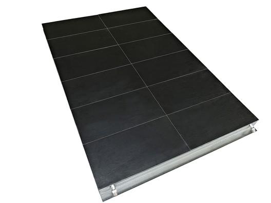 Thermoslate® Technical Solar Floor. Image Courtesy of Cupa Pizarras