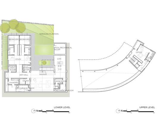 Lower / Upper Level plan