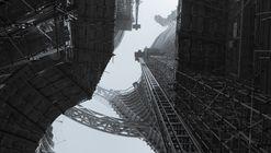 Zaha Hadid Architects revela fotografías del atrio más alto del mundo, actualmente en construcción en Beijing