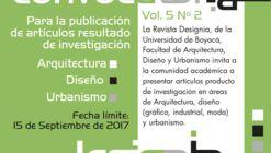 Llamado de artículos para Revista Designia Vol. 5 Nº 2