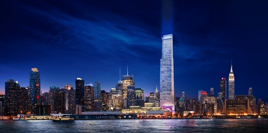 An earlier rendering of the project. Image © FXFOWLE. Via New York YIMBY