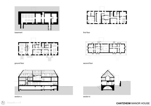Manor House Plans and Sections