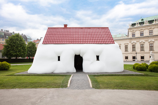 "Erwin Wurm's ""Fat House"" Is Exhibited Amid the Baroque Splendor of Vienna's Upper Belvedere"